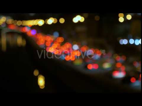 Abstract Lights of Traffic in the Night. Blurred, Not in Focus, Intentionally. | Stock Footage -