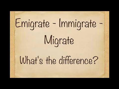 DO YOU KNOW THE DIFFERENCE? Emigrate-Immigrate-Migrate!