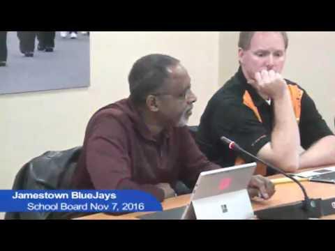 Jamestown Public School Board Meeting