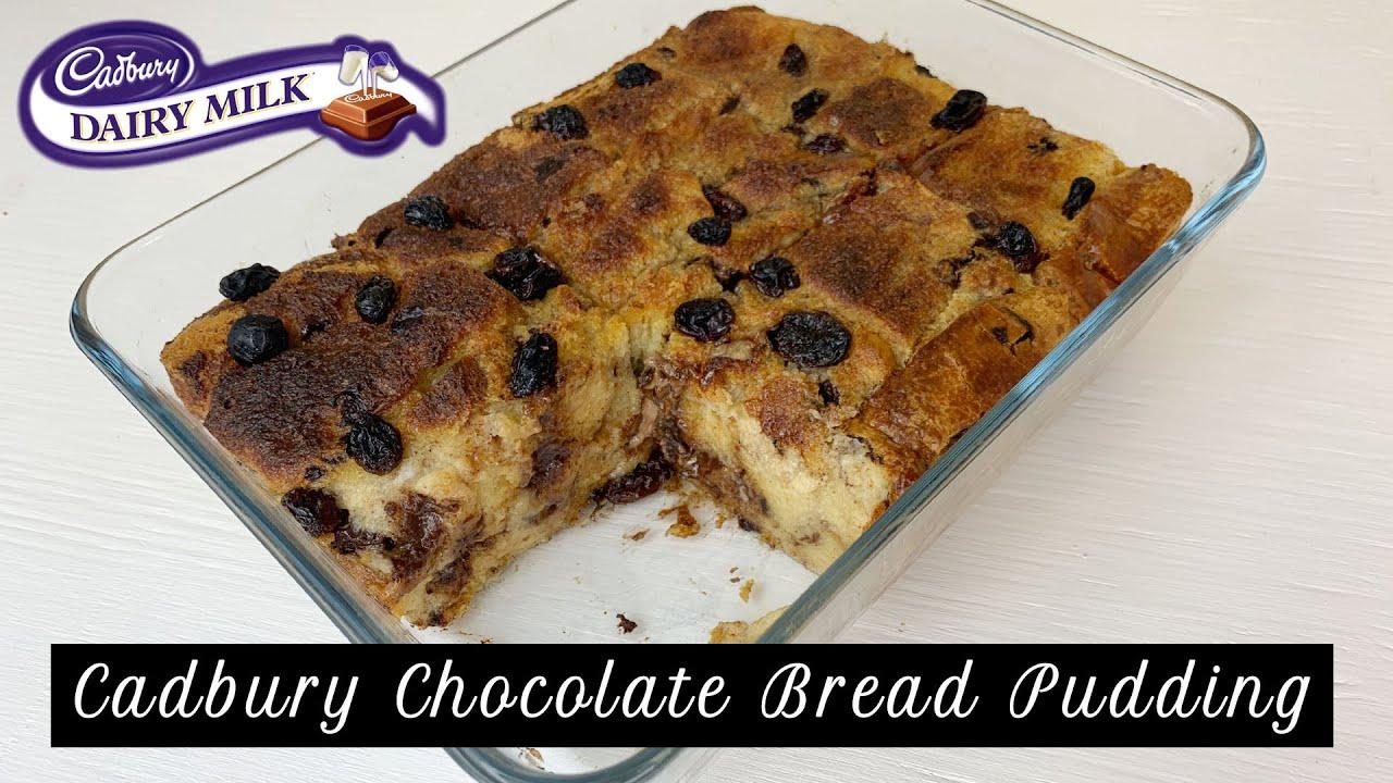 Cadbury Chocolate Bread Pudding Puding Roti Coklat Cadbury Easy Recipe Resepi Mudah Youtube