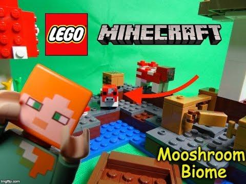 Lego Minecraft - Mooshroom Biome - 21129 - YouTube