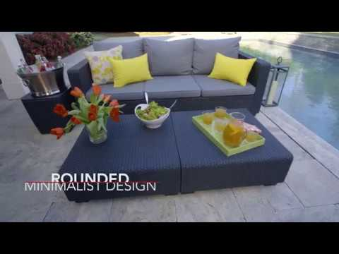 keter salta lounge set youtube. Black Bedroom Furniture Sets. Home Design Ideas