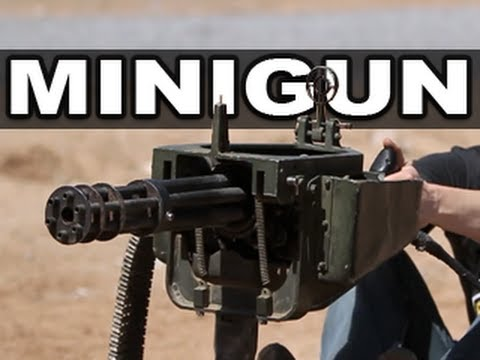 Minigun in super slow motion! RatedRR