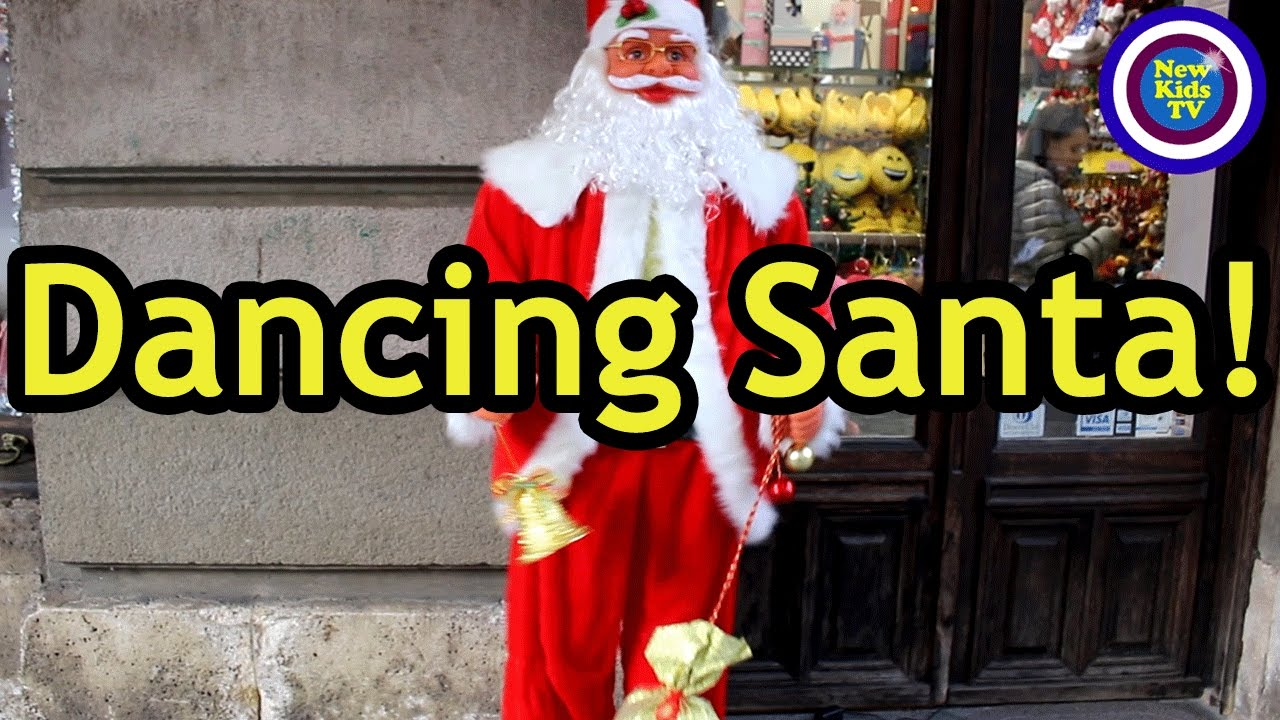 Dancing Santa! Casey Christmas Vlog - New Kids TV