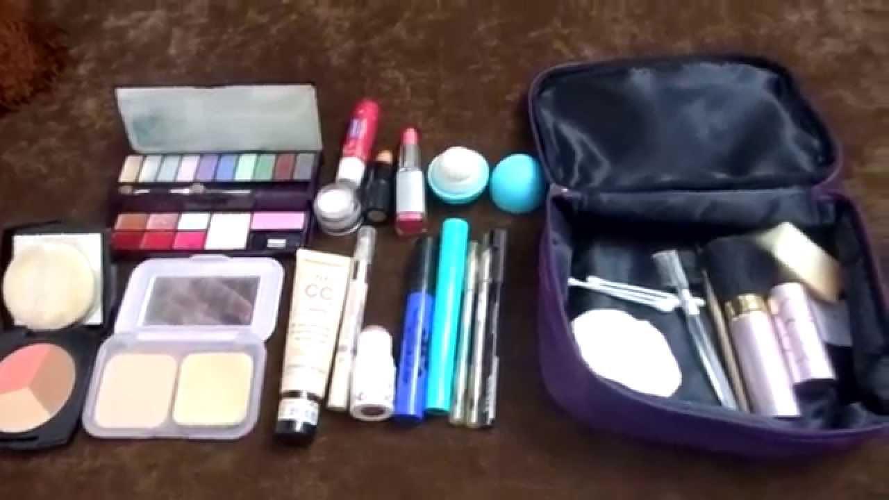 20df6dd51c570 My travel makeup bag (حقيبة مكياج السفر (سلسلة السفر - YouTube