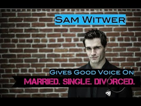 Being Smouldering Sam Witwer (Married. Single. Divorced.)