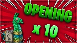 OPENING LAMA PIRATE X10 - EXPLICATION - FORTNITE SAUVER THE WORLD