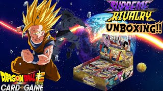 SUPREME RIVALRY DOUBLE BOOSTER BOX OPENING DRAGON BALL SUPER CARD GAME