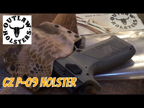 CZ P-09 Holster by Outlaw Holsters - YouTube