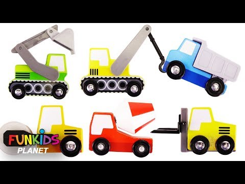 Learn Colors Videos for Kids: Paw Patrol Uses Construction Trucks, Tractors, Cranes and Dump Trucks