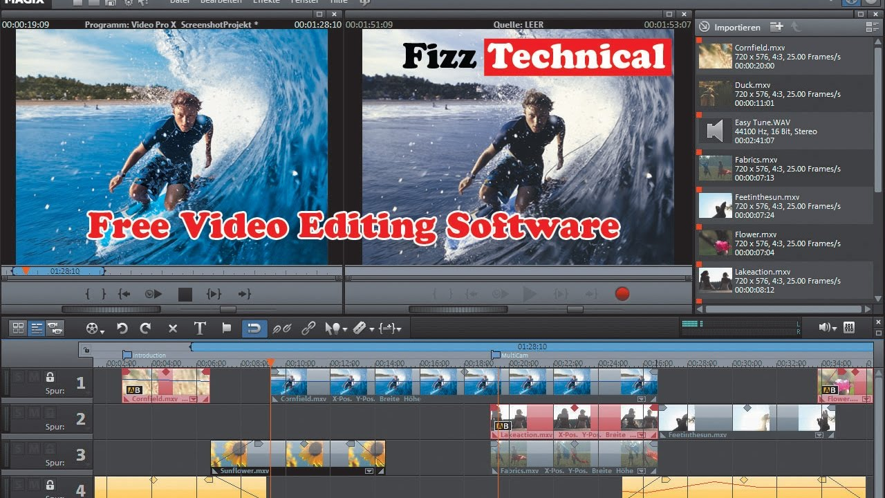 photo video editing software free download full version for pc