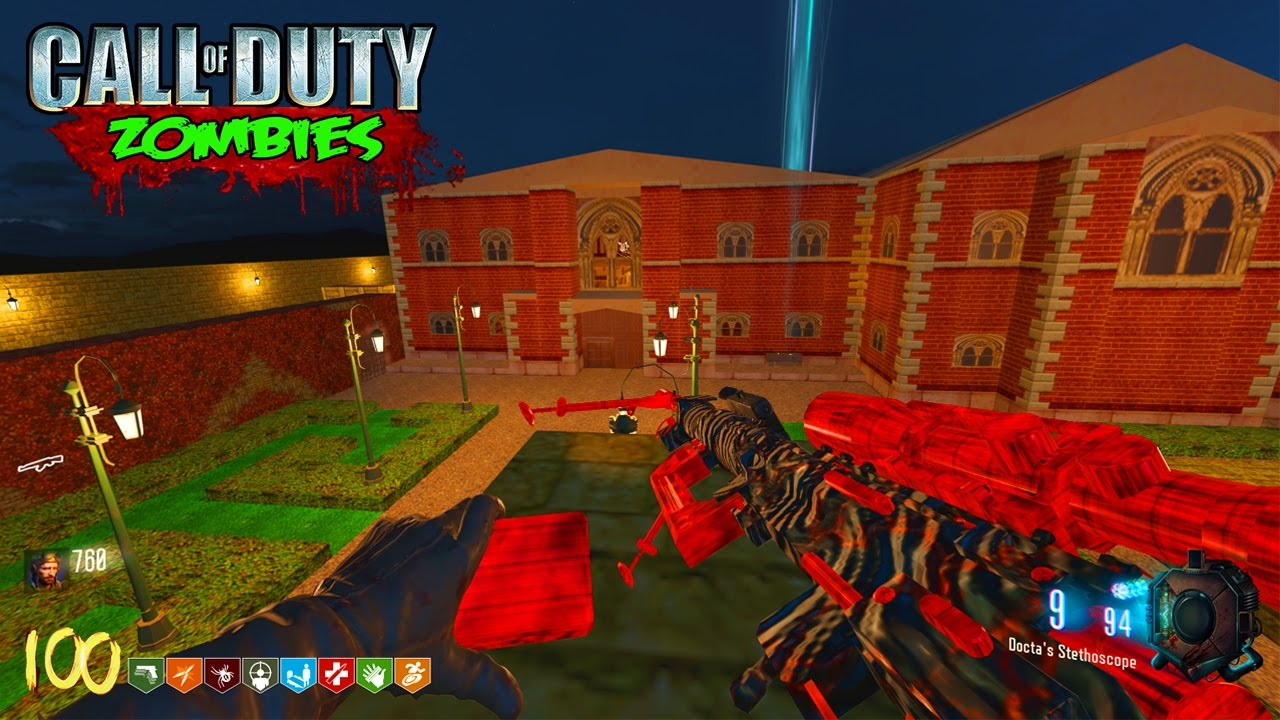 TOMB RAIDER MANSION ZOMBIES! - CALL OF DUTY BLACK OPS 3 CUSTOM