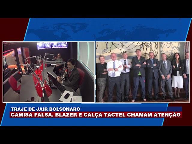 Traje de Bolsonaro: camisa falsa, blazer e calça tactel chamam atenção