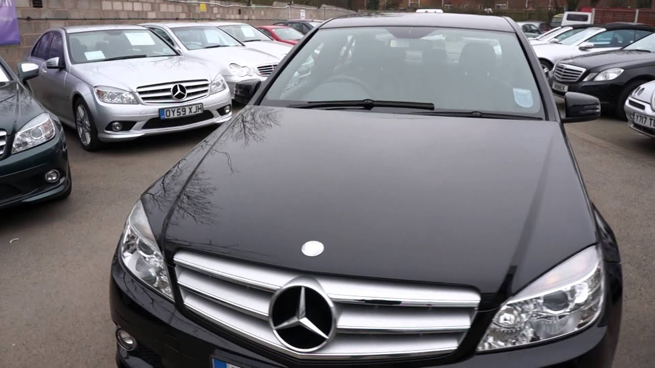 2008 58 mercedes c220 cdi amg sport saloon automatic diesel black mercland youtube. Black Bedroom Furniture Sets. Home Design Ideas