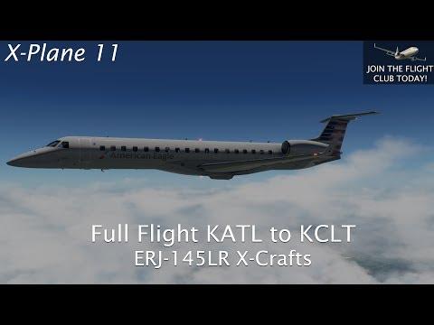 Repeat X-Plane 11 - Full Flight KATL to KCLT ERJ-145LR by X-Crafts
