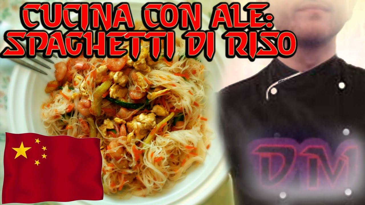 cucina con ale spaghetti di riso fritti come al ristorante cinese youtube