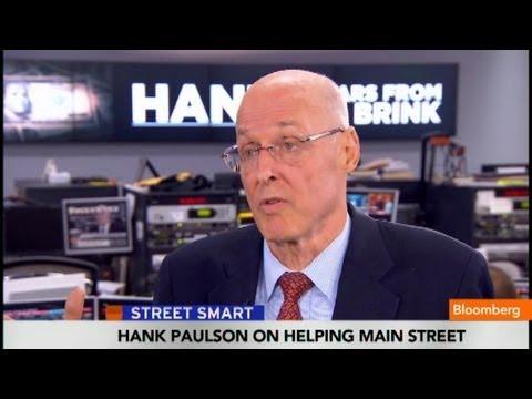 Hank Paulson: Financial Crisis a 100-Year Storm