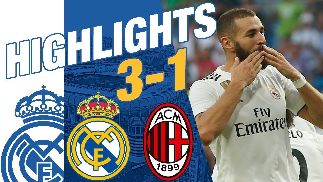 Real Madrid Vs AC Milan 3 1 HIGHLIGHTS RESUMEN 2018