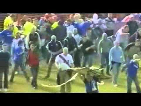 Football hooligans Glentoran & Linfield