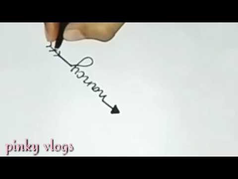 'nancy' name easy tattoo design   (subscribe request)  pinky vlogs...