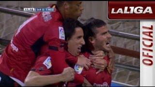 Gol de Hemed (0-1) en el Real Zaragoza - RCD Mallorca - HD