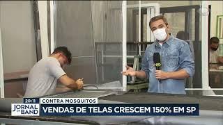 Reportagem da Alumintelas no jornal da Band  durante Pandemia