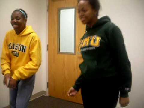 two american girls attempting ethiopian Guragigna  dance