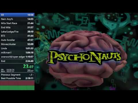 Psychonauts Rank 101 Speedrun in 2:27:57