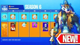"Fortnite Season 6 ""MAX BATTLE PASS"" Unlocked! (New Skins!) Fully Upgraded ""Calamity"" & ""Dire"" Skins!"