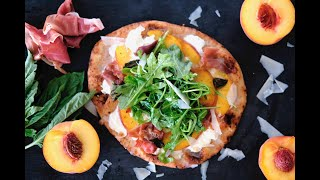 Pizza Recipe: Peach & Prosciutto Naan Pizza by Everyday Gourmet with Blakely