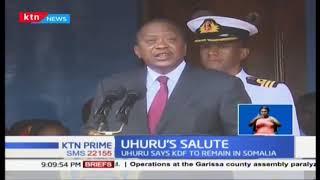 President Kenyatta hails KDF over peacekeeping during passout parade