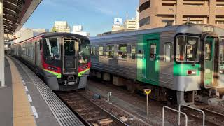 【4K】高徳線 1200形+1500形 引田行き 高松駅発車