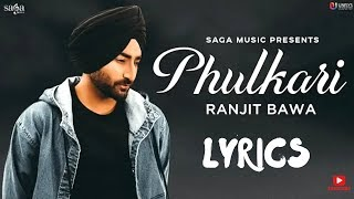 Ranjit Baba -Phulkari Lyrics (Official Video) Preet judge | Latest Punjabi song Jackonmusic