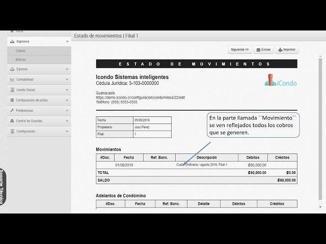 Como generar cobros y facturas - iCondo Administración de Condominios