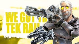 WE GOT THEIR TEK RAIL GUN AND SADDLE (Official Pvp Pirates) - Ark:survival Evolved - Ep.52