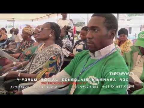 2ème JOUR  RDC Dialogue et élections  Le 4ème Forum social congolais  KINSHASA 02