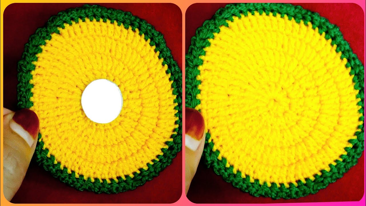 How To Make Beautiful Glass met And Glass Cap| Crochet Tutorial Easy To Understand