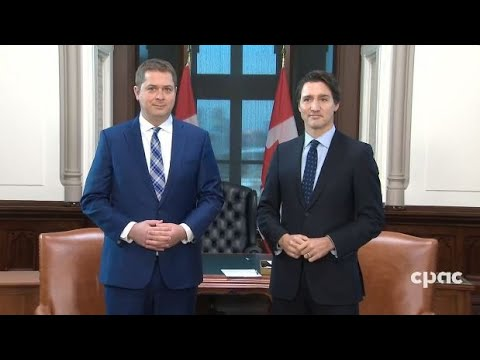 Andrew Scheer meets with Justin Trudeau in Ottawa