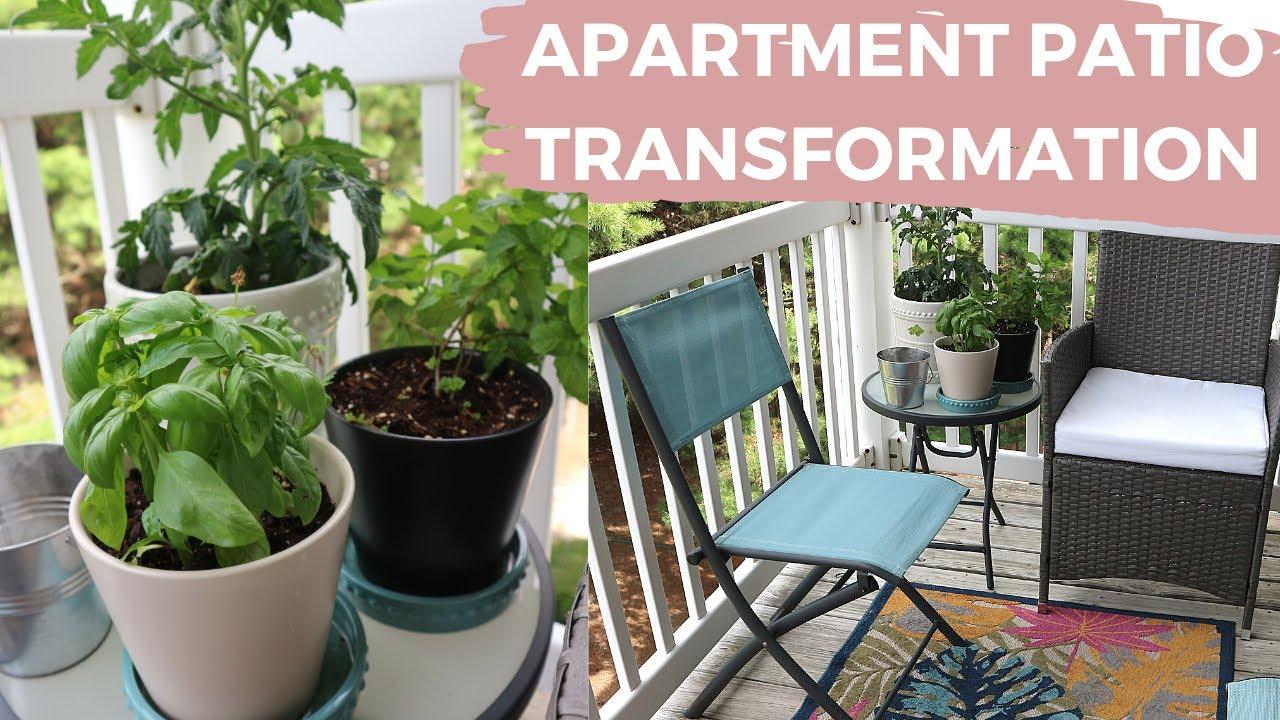 Apartment Patio Decor Transformation On A Budget