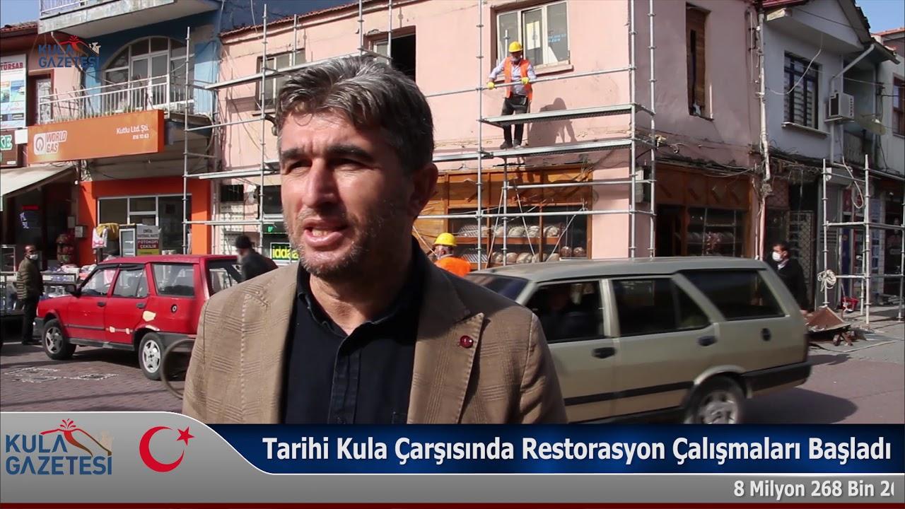 Tarihi Kula Çarşısında Restorasyon Çalışmaları Başladı