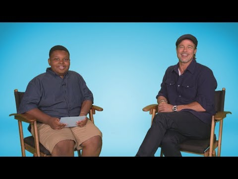 Scott Sands - Jaden Jefferson Interviews Brad Pitt On The Ellen Show Today