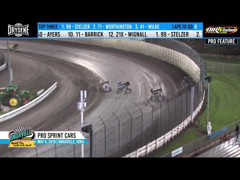 Knoxville Raceway Pro Sprints Highlights - May 4, 2019