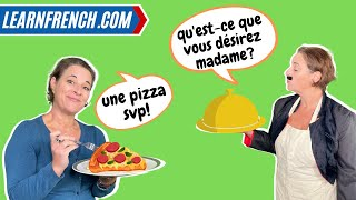 Improve your everyday Fręnch listening skills with REAL French Conversations 💬   Au restaurant 👩🍳🍕