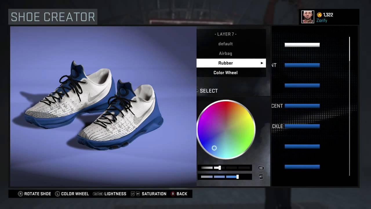 buy popular ba453 d244a NBA 2K16 Shoe Creator - Nike KD 8