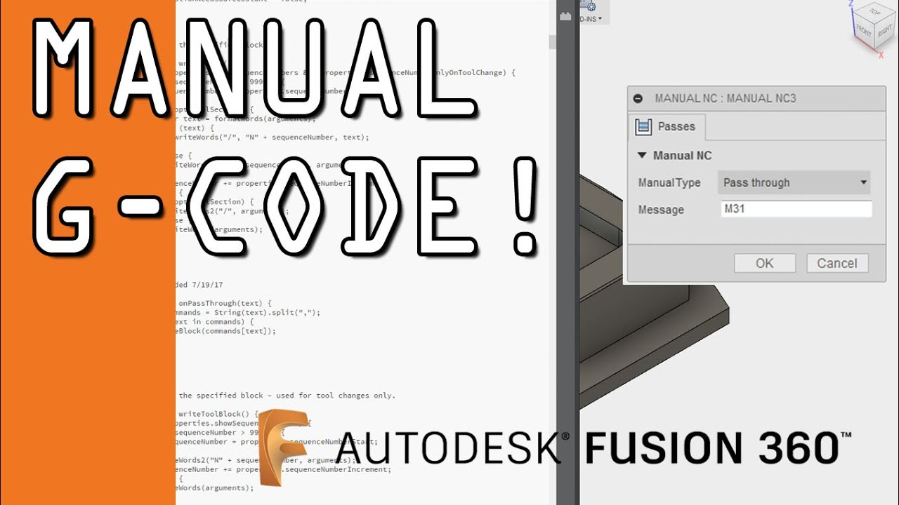 How to Add Manual G-Code to Fusion 360 CAM! FF90