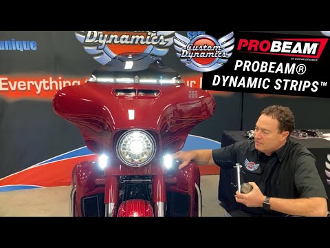 ProBEAM® Dynamic Strips™ LED Turn Signals for FLHX/FLHT H D™ Motorcycles