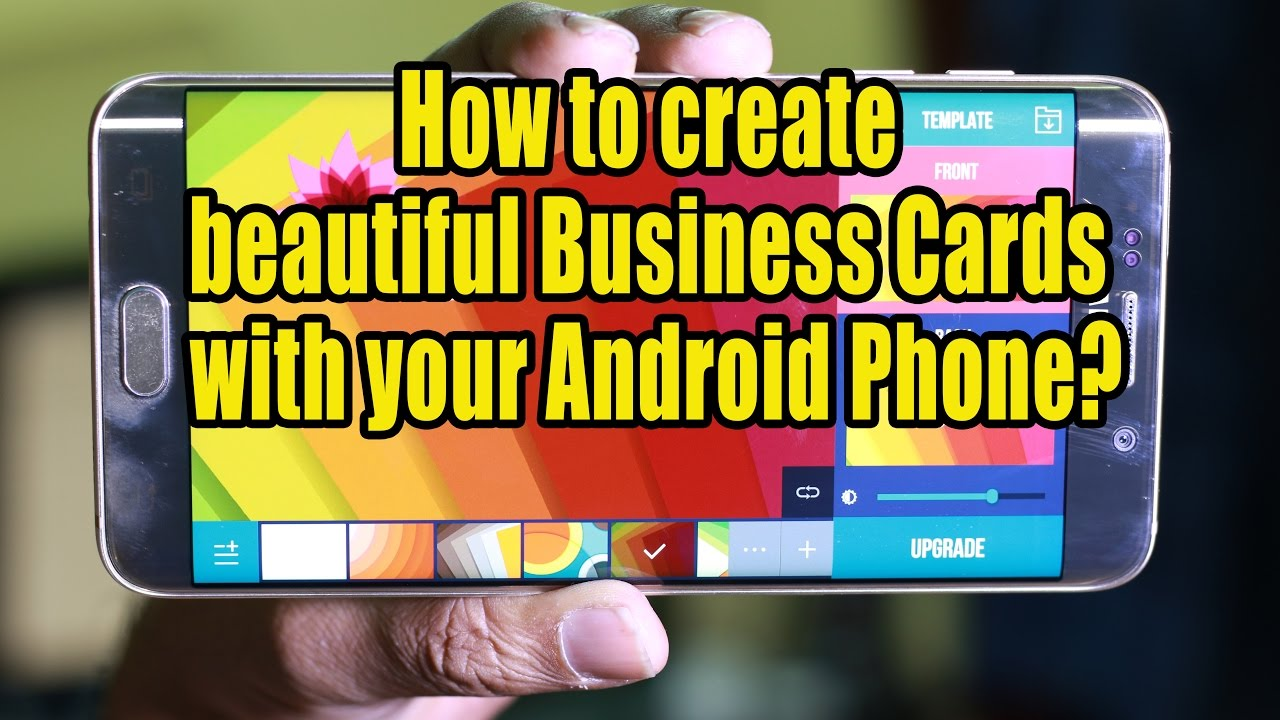 How to create beautiful business cards with your android phone how to create beautiful business cards with your android phone reheart Gallery