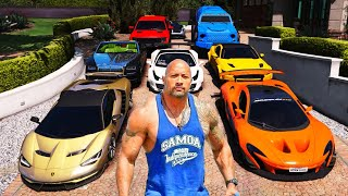 GTA 5 ✪ Stealing The Rock Luxury Cars with Michael ✪ (Real Life Cars #04)