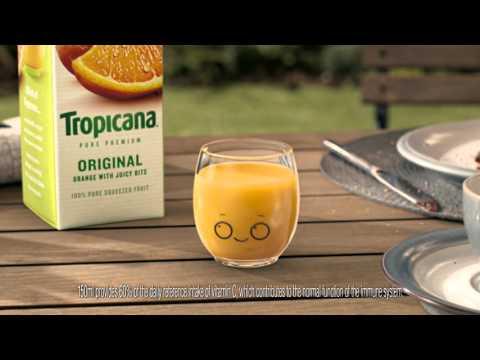 Tropicana TV Ad Little Glass 'Size'