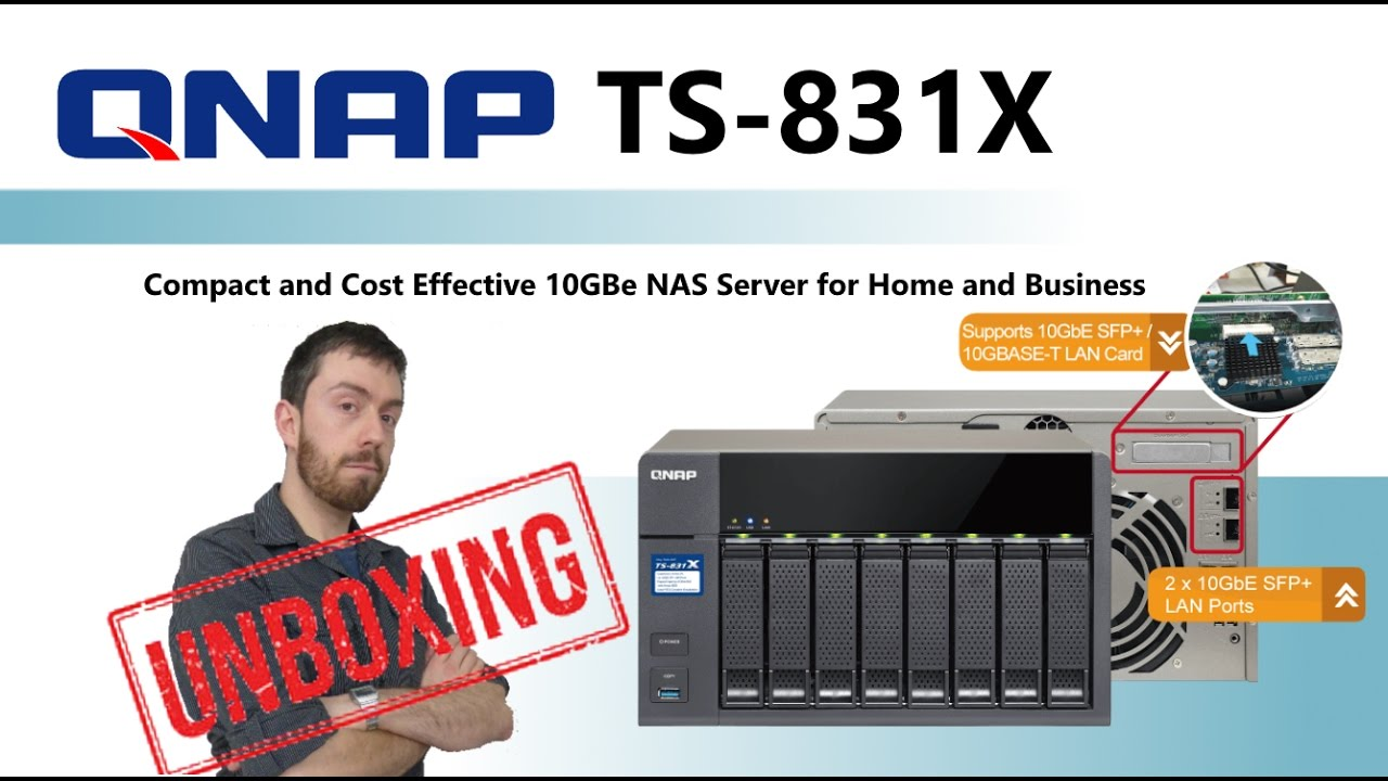 The QNAP TS-831X NAS 8-Bay 10GbE NAS – Unboxing the Cost Effective SFP+ NAS